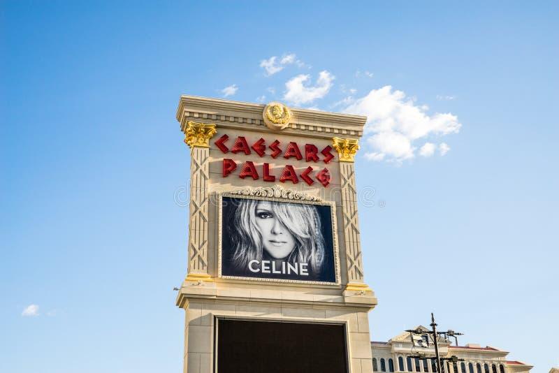 Celine Dion, отличаемое на дворце Лас-Вегас Caesars стоковые фото
