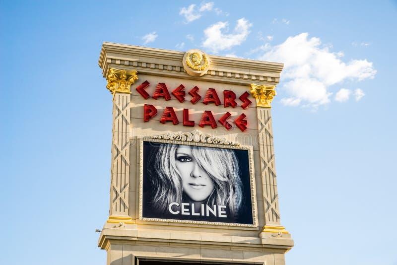 Celine Dion, descritta al Caesars Palace Las Vegas immagine stock libera da diritti