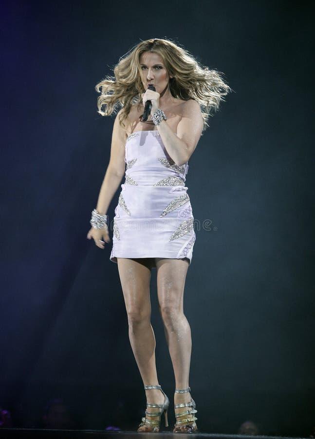 Celine Dion führt im Konzert durch lizenzfreies stockbild