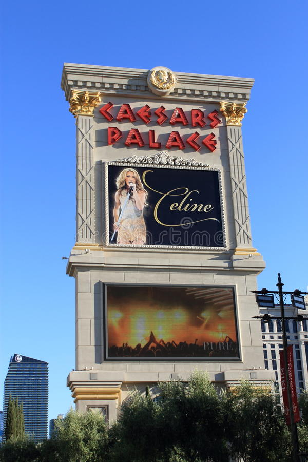 Las Vegas - Caesars Palace Hotel and Casino Marquee royalty free stock photography