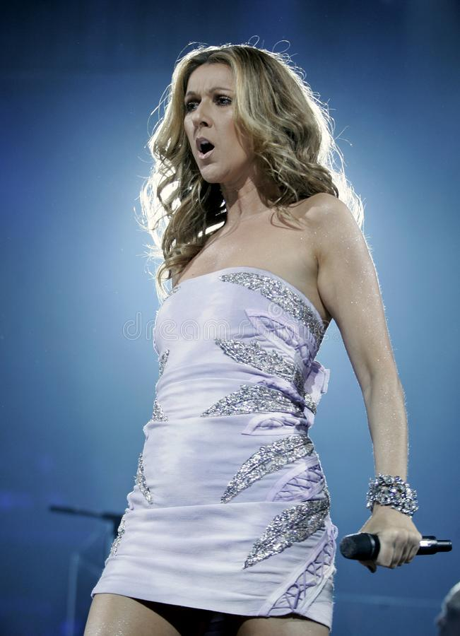 Celine Dion performs in concert royalty free stock photography