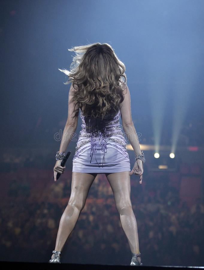 Celine Dion performs in concert stock photography