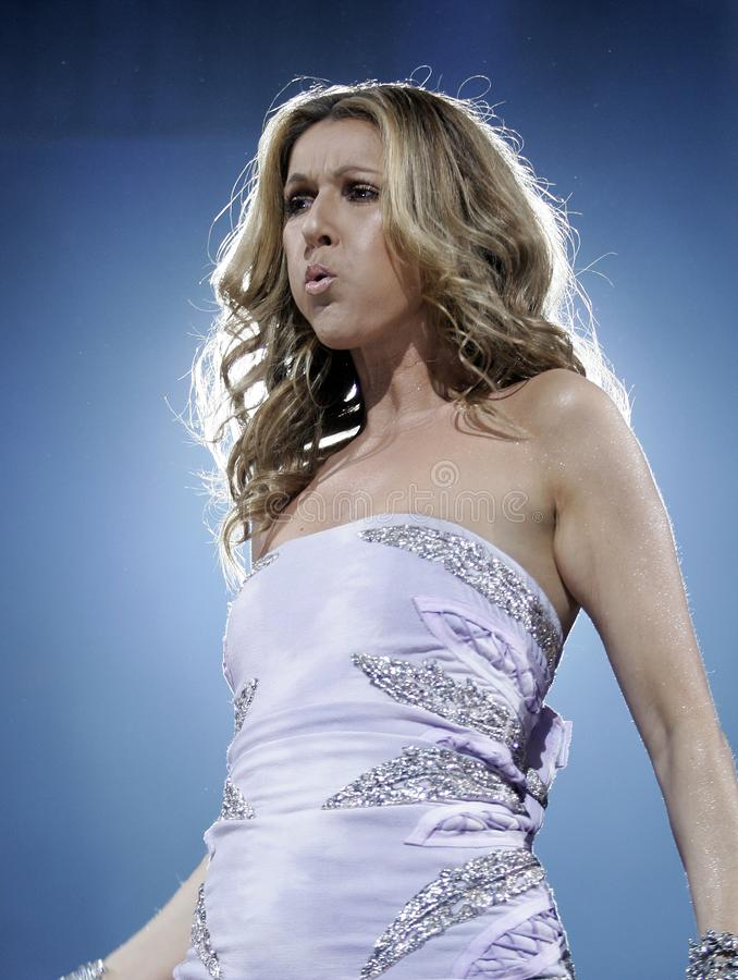 Celine Dion performs in concert royalty free stock photos
