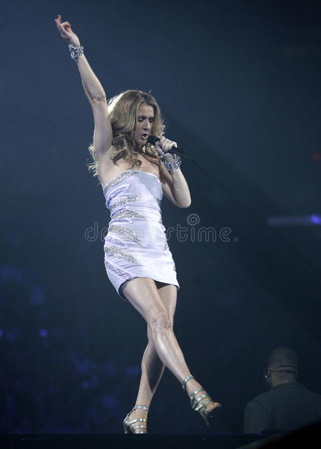 Celine Dion performs in concert royalty free stock images