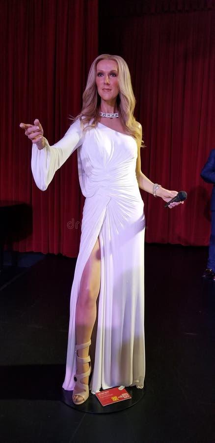 Celine Dions-Statue stockbilder