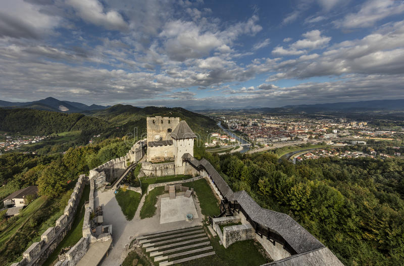 Celje castle, Slovenia royalty free stock image