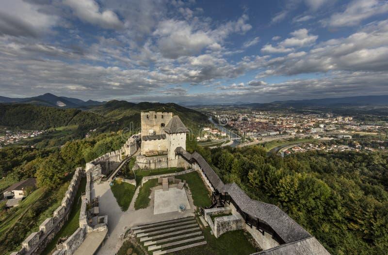 Celje slott, Slovenien royaltyfri bild