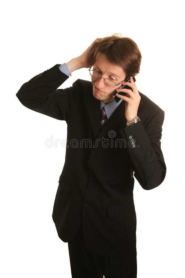 Download On the cell stock image. Image of asking, discussion - 22152649