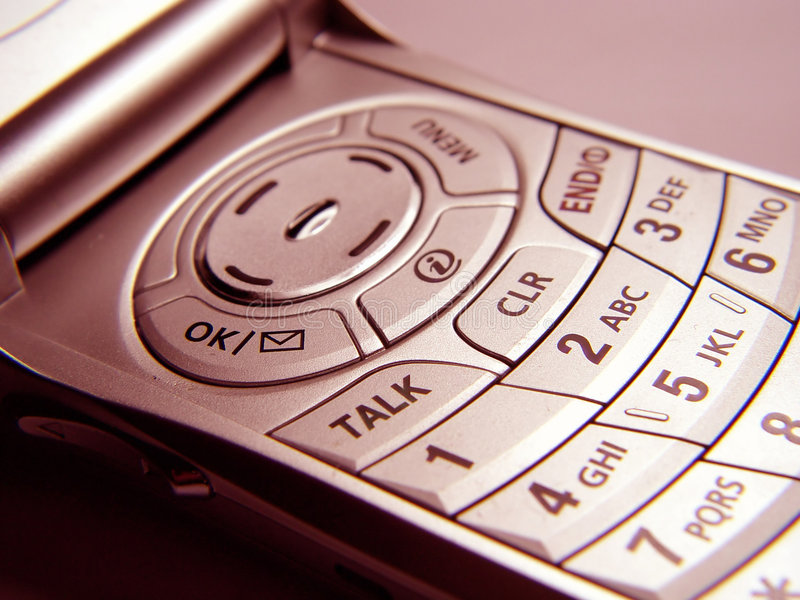 cell- closeuptelefon royaltyfria bilder