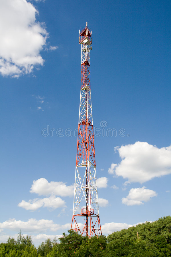 Cell-communications tower stock photography