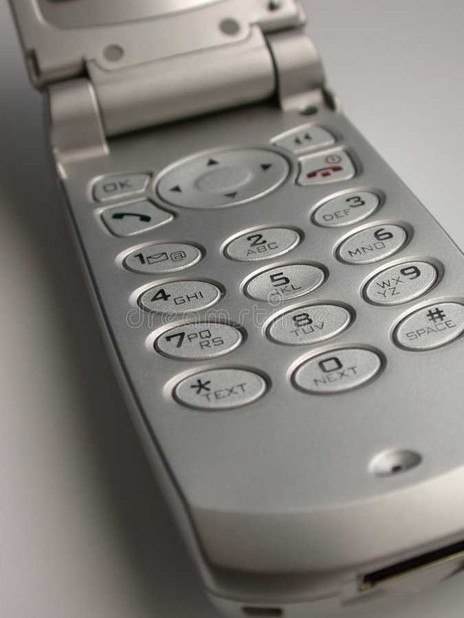 Cell- Fliptelefonsilver Royaltyfria Foton