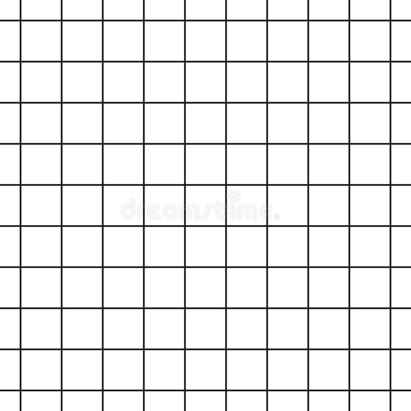 Cell Grid Striped Geometric Seamless Pattern - Vector Illustration - Isolated On White Background stock illustration