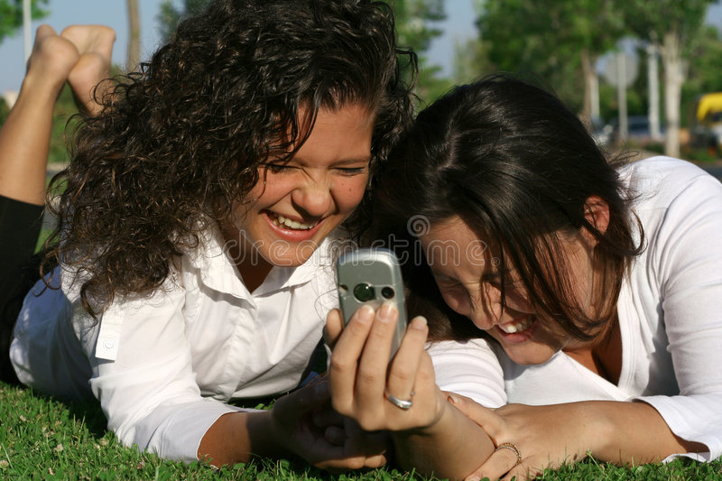 Cell Or Mobile Phone Fun Stock Photo