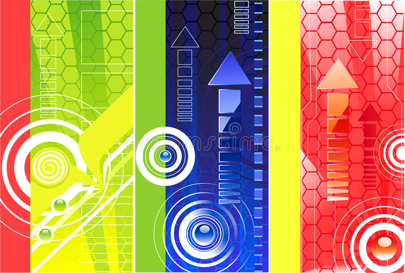 cell- modell för baner royaltyfri illustrationer