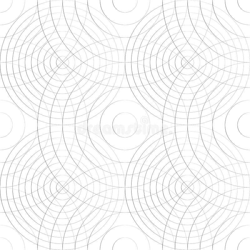 Cell- modell med tunna linjer av cirklar Repeatable subtilt vektor illustrationer