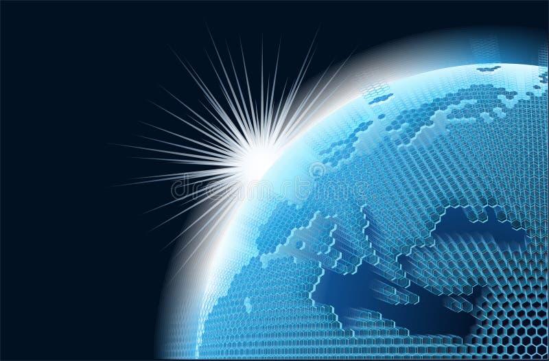 cell- nätverkstemavektor stock illustrationer