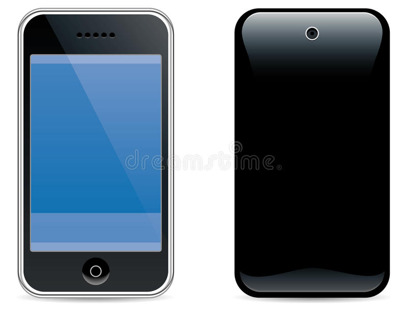 Cell phone 1. Realistic illustration of a modern cell phone/pda vector illustration