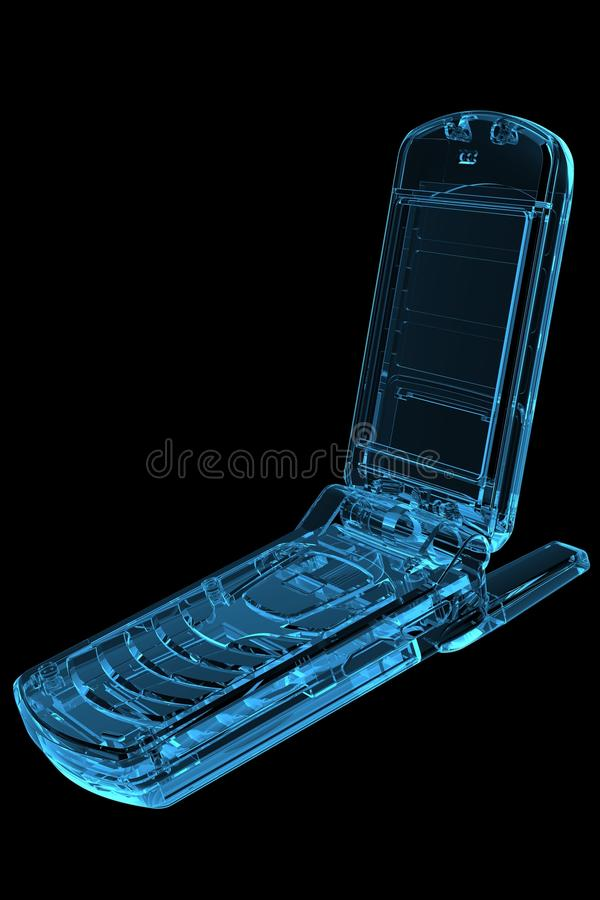 Download Cell Phone 3D X-Ray Blue stock illustration. Illustration of ideas - 14432076