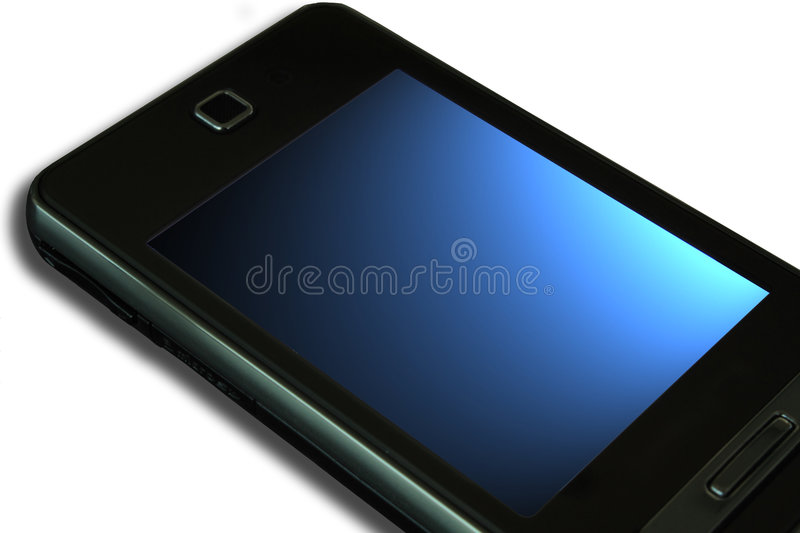 Cell phone. With touchscreen isolated. Samsung sgh-f480 stock image