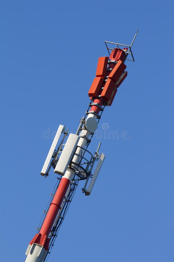 Download Cell phone antenna stock image. Image of blue, communications - 29682001