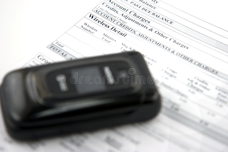 Download Cell phone bill stock image. Image of finances, charges - 4154033