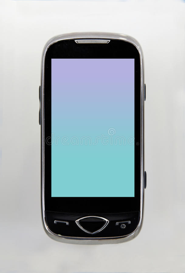 cell phone black green stock photo