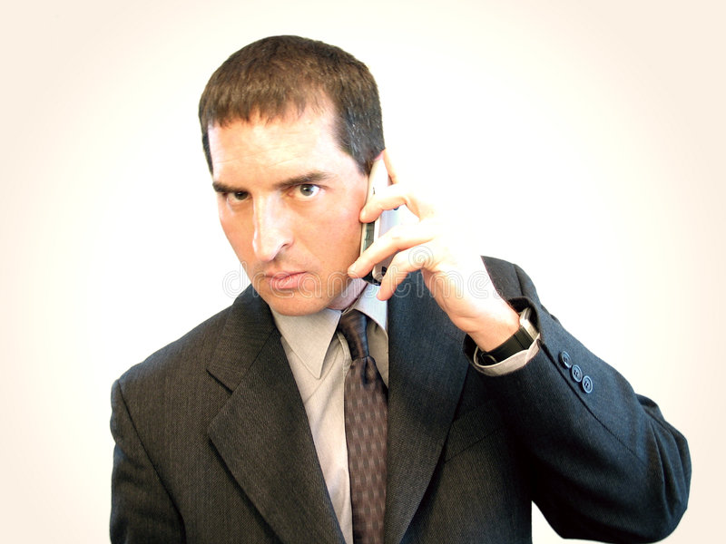Cell Phone Businessman II royalty free stock photography