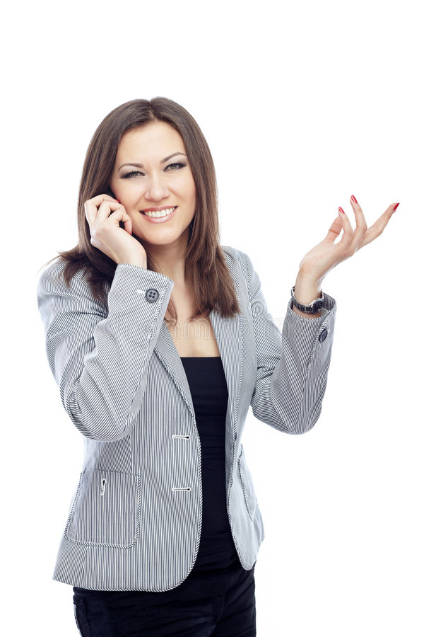 Cell phone calling stock image