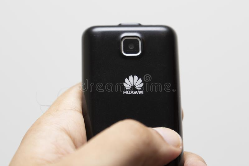 Cell phone of the Chinese brand Hawuei stock photos