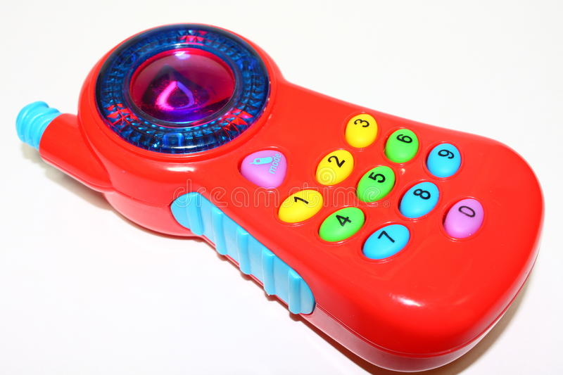 Cell-phone do brinquedo foto de stock
