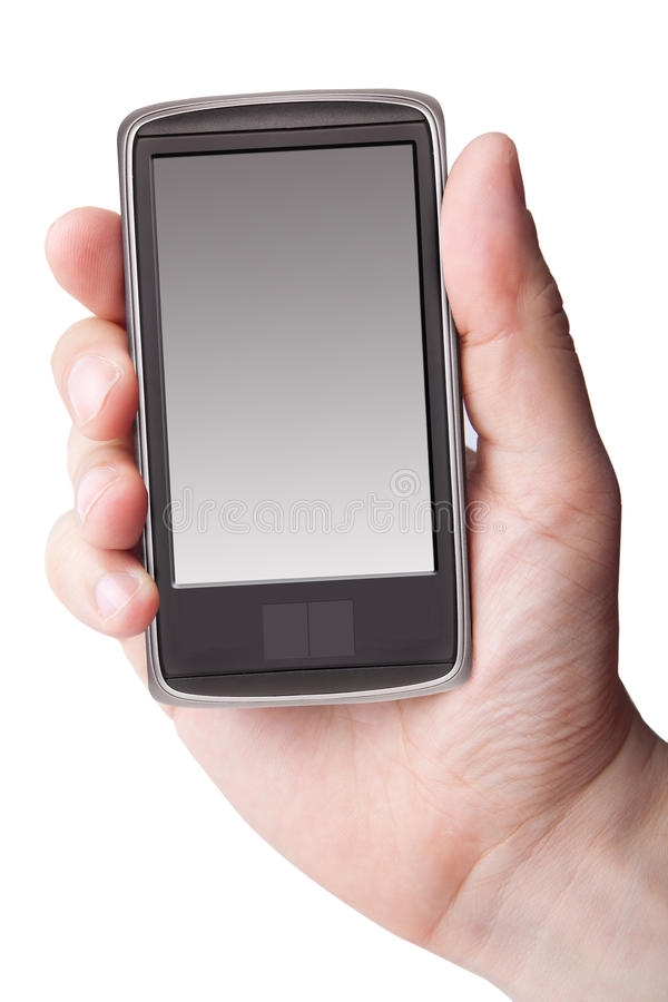 Cell Phone in Hand stock photos