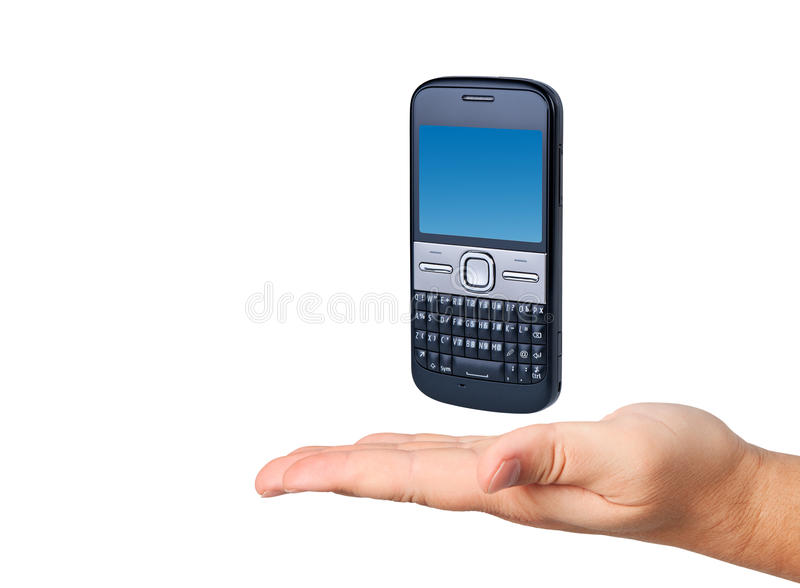 Download Cell Phone In Hand Isolated. Royalty Free Stock Photos - Image: 22403978