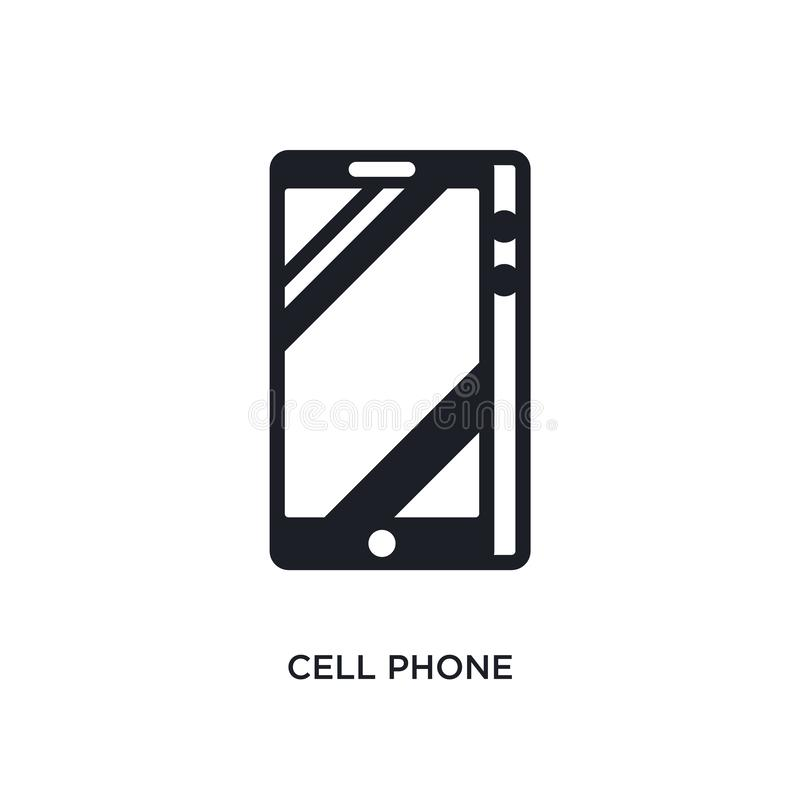 Cell phone isolated icon. simple element illustration from electronic devices concept icons. cell phone editable logo sign symbol. Design on white background royalty free illustration