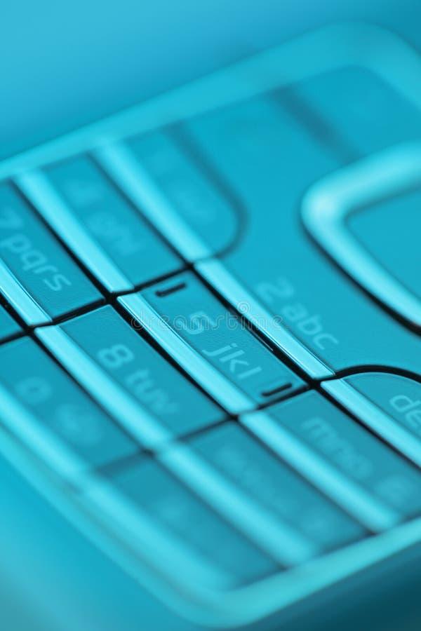 Cell phone keypad stock image