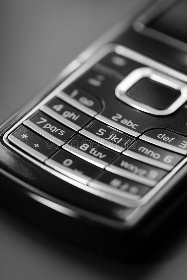 Cell Phone Keypad Royalty Free Stock Images