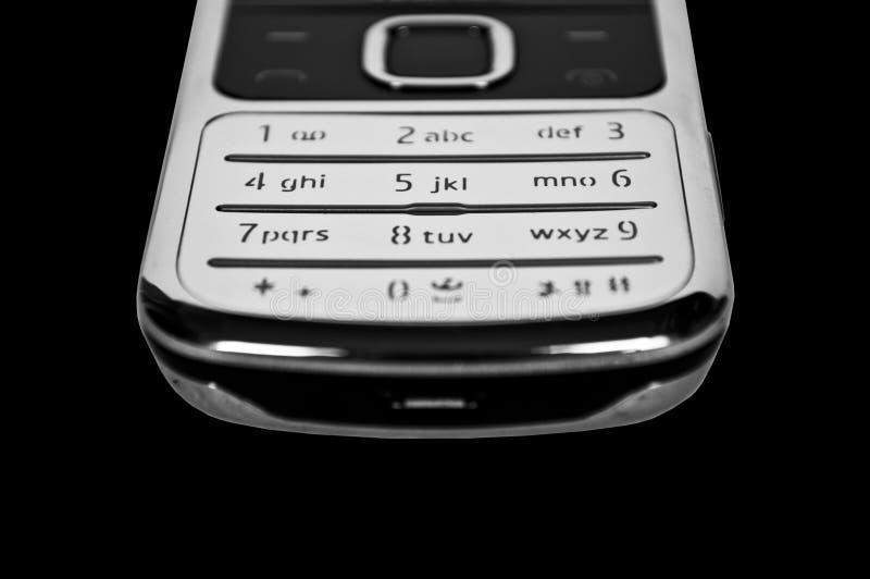 Cell phone keypad close up