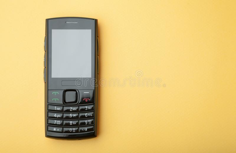 Cell phone with a keypad royalty free stock image