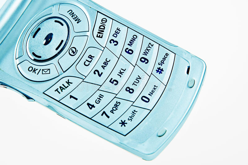 Cell phone number pad royalty free stock images