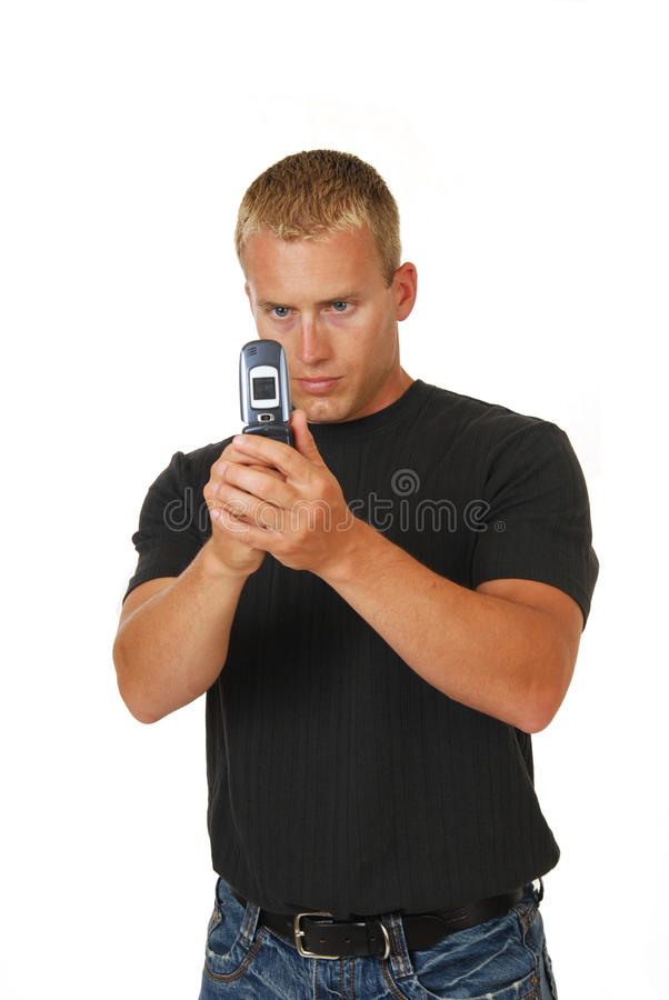 Cell phone photographer stock photography