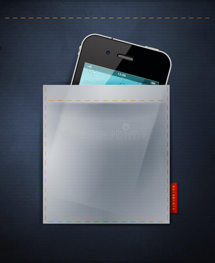 Cell Phone In A Pocket Of Jeans. IPhone In Jeans, Stock Photos