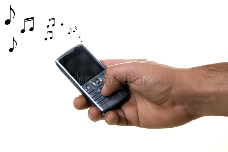 Cell phone ringing stock photo