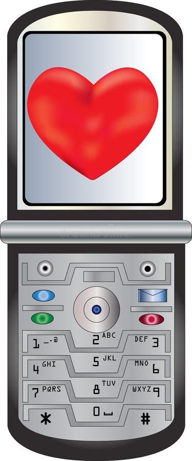 Cell Phone Sending Love Royalty Free Stock Photos