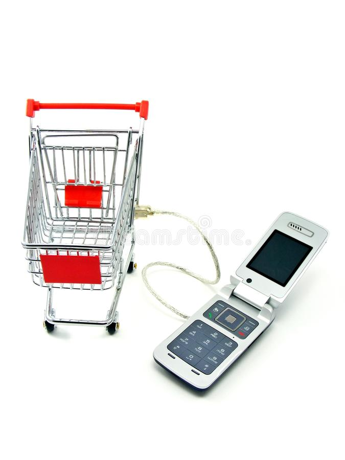 Download Cell Phone & Shopping Trolley Stock Photo - Image: 18524712