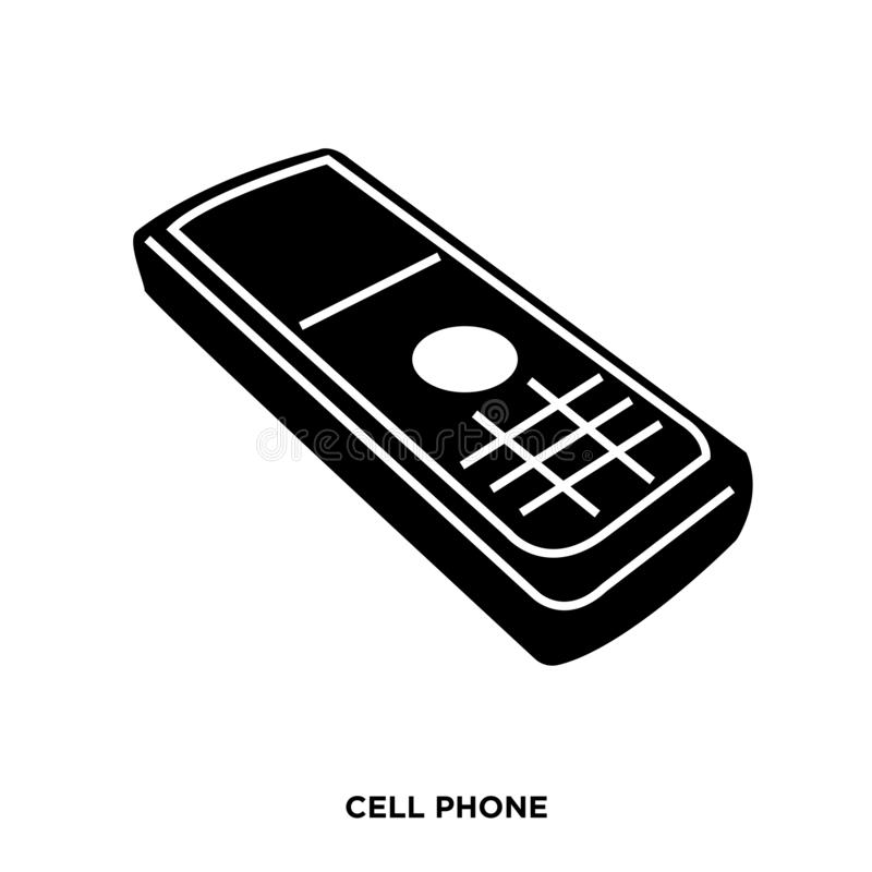 Free Cell Phone Silhouette Images On White Background,in Black Old-fashioned,keyed Royalty Free Stock Images - 133871979