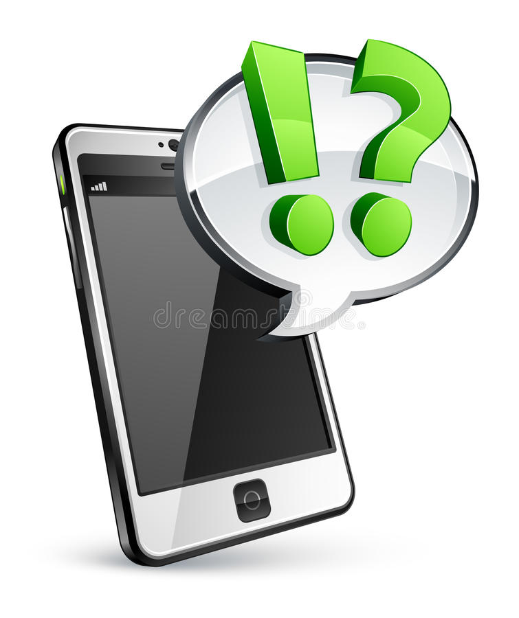 Download Cell Phone With Speech Bubble Stock Photo - Image: 13623440