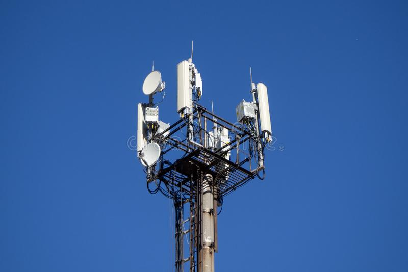 Cell phone  tower. royalty free stock photography