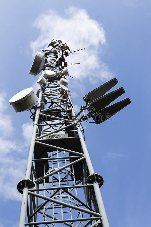 Telecommunication Room Design: Cell Phone Transmitters On Telecommunication Tower In