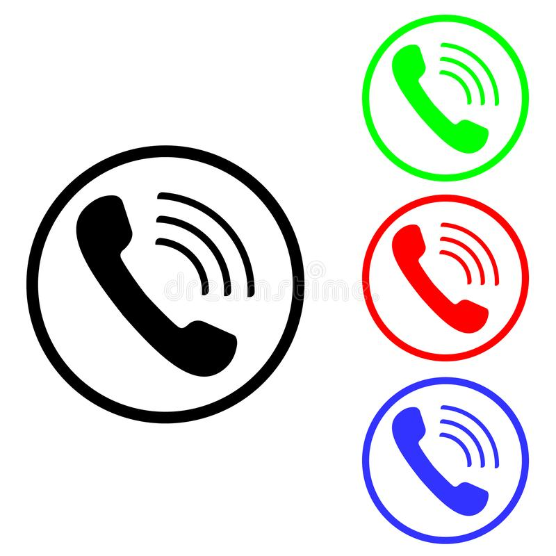 Cell phone vector icon. Telephone call illustration symbol. Ringing phone sign or logo. royalty free illustration