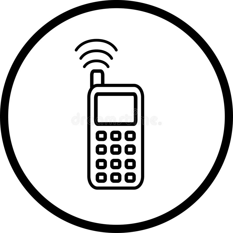 cell phone vector symbol stock vector  illustration of