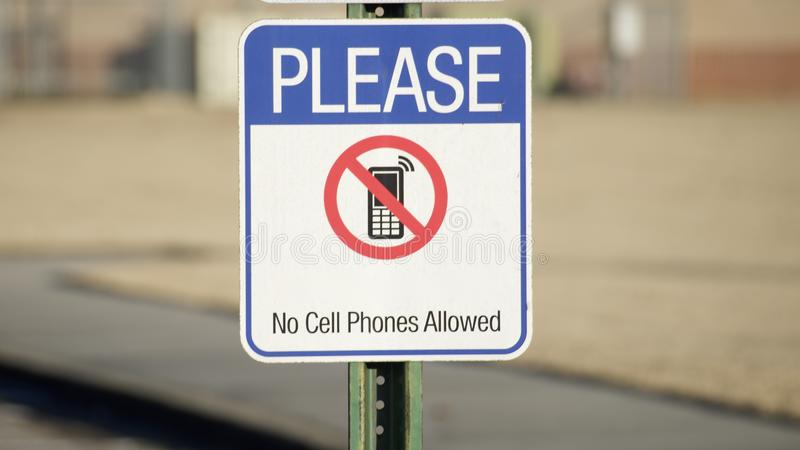 Cell Phones Not Allowed Please stock photo